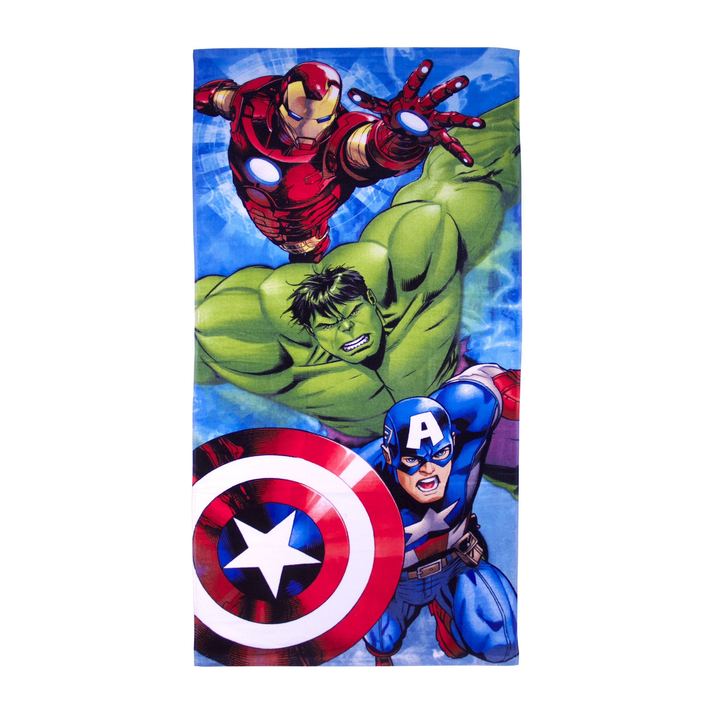 Marvel Avengers Classic Charging Assembly Plush Beach/Bath Towel, 28'' by 58''