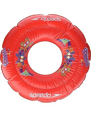 Speedo, Sea Squad Swim Ring, Flotador Redondo, Unisex Bebé, Rojo Lava,