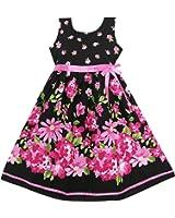 Sunny Fashion Girls Dress Hot Pink Flower Belt Party