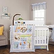 Trend Lab Jungle Fun 6 Piece Crib Bedding Set, Blue