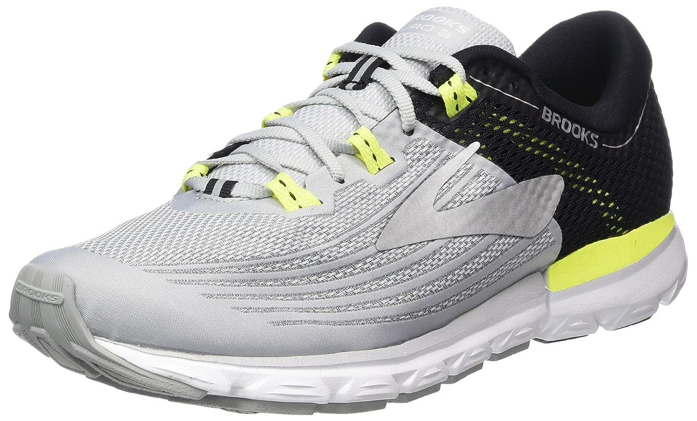 Brooks Neuro 3, Zapatillas de Running para Hombre 44.5 EU|Multicolor (Grey/Black/Nightlife 099)