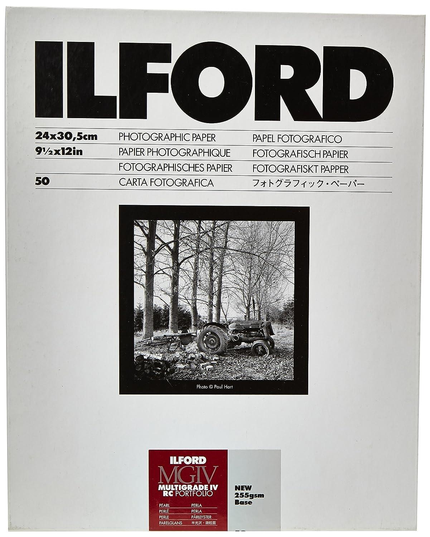 Ilford Multigrade RC IV Portfollio Pearl 24 x 30,5 cm 50 Hojas de Papel fotogr/áfico Blanco