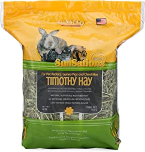 Sun Seed Company Sss88048 1-Pack Sunnatural Select Sweet Grass Small Animal Timothy Hay, 16-Ounce