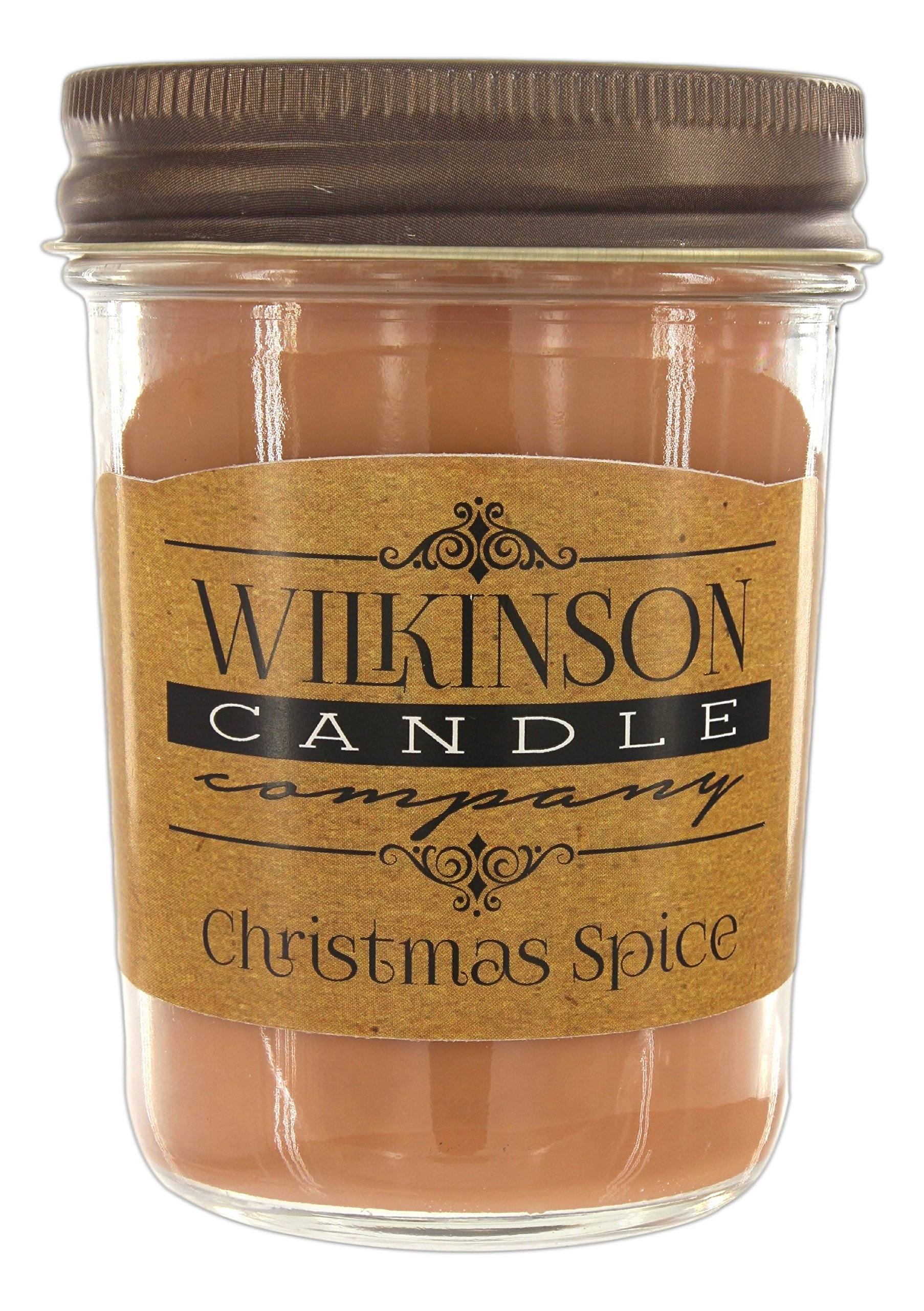 Wilkinson Candle Co. Jam Jar Soy-Lotion Candle (8 Ounce, Christmas Spice)