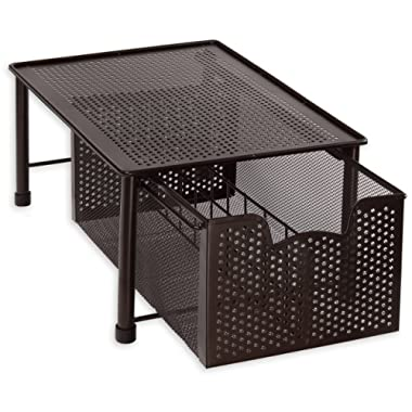Simple Houseware Stackable Cabinet Basket Drawer Organizer, Bronze