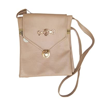 87d8cf03c28 VS-YOG Women s Cream White Synthetic Side Hanging Bag  Amazon.in  Shoes    Handbags