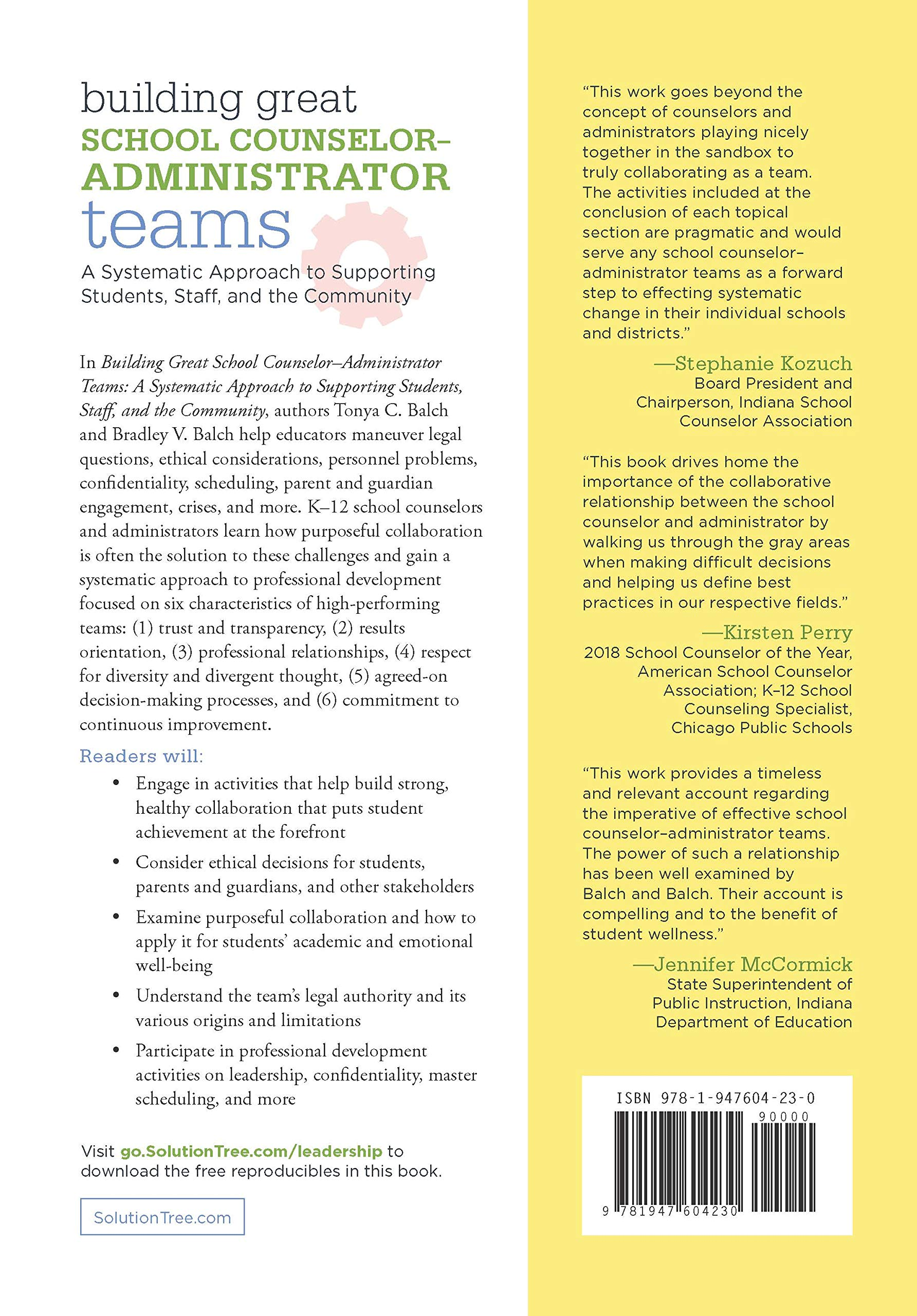 Building Great School Counselor-Administrator Teams: A
