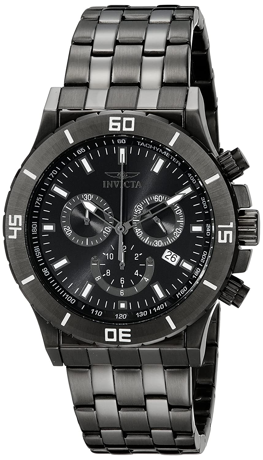 Amazon.com: Invicta Mens 0393 II Collection Chronograph Black-Ion Plated Stainless Steel Watch: Invicta: Watches