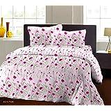 Bombay Dyeing Breeze Plus Collection Flat Double Bedsheet Set, Multi-Colour, 274x274cm, 4916 A