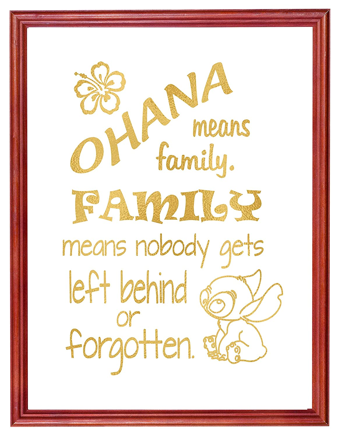 Amazon.com: Ohana Means Family - Inspired by Lilo and Stitch ...