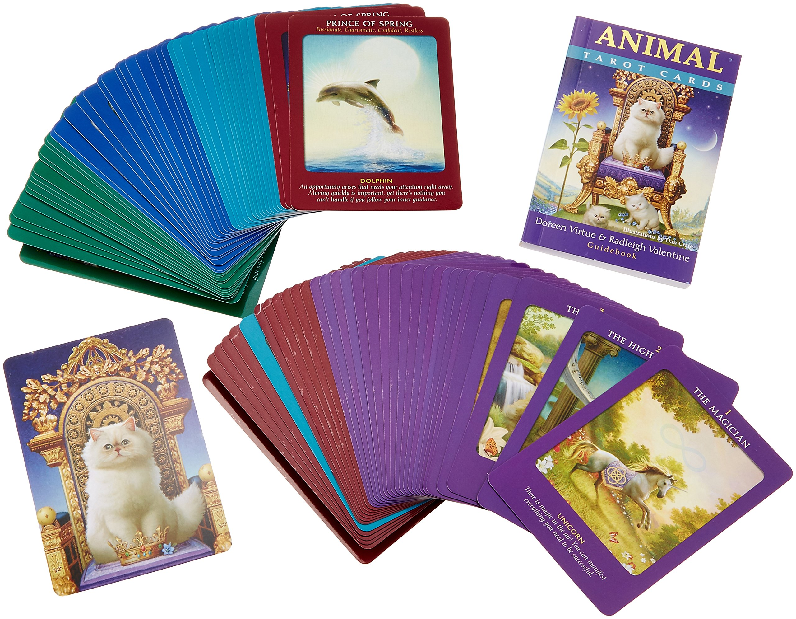 Animal Tarot Cards A 78 Card Deck And Guidebook Virtue Doreen Valentine Radleigh 9781401951214 Amazon Com Books