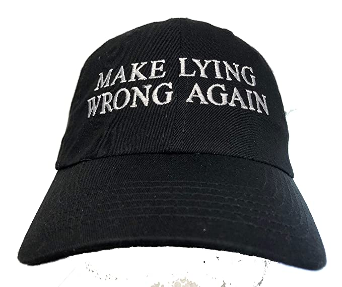 zhongjiany Make Lying Wrong Again Embroidered Ball Cap