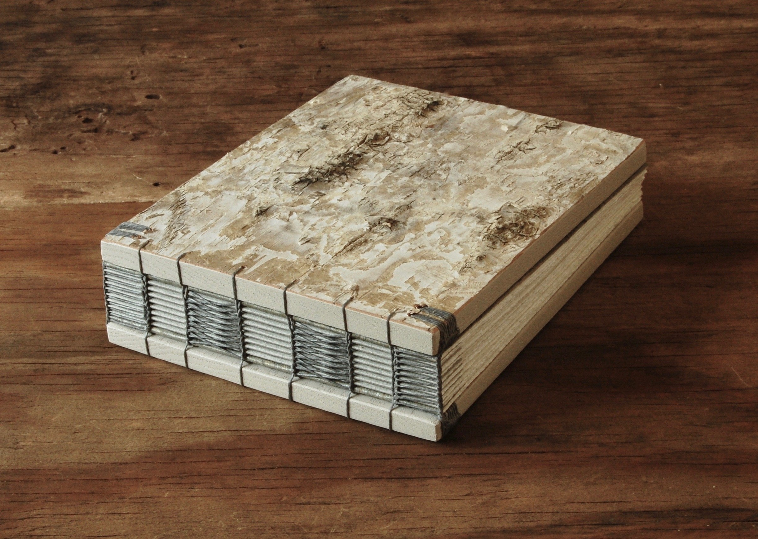 Handmade White Birch Wood Wedding or Vacation Home Guest Book