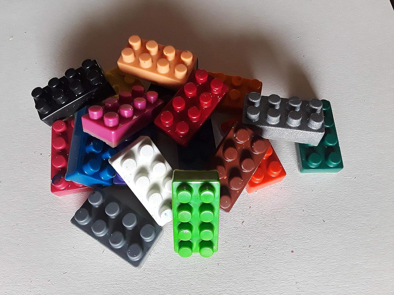 Tie Slide Handmade with Building Bricks Plates