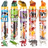 Joyin Toy 69 Pieces Natural World Animal Dinosaur Insect Sea Animal Farm Animal Figures Easter Basket Stuffer Mini Plastic Vinyl Assorted Figures Playset