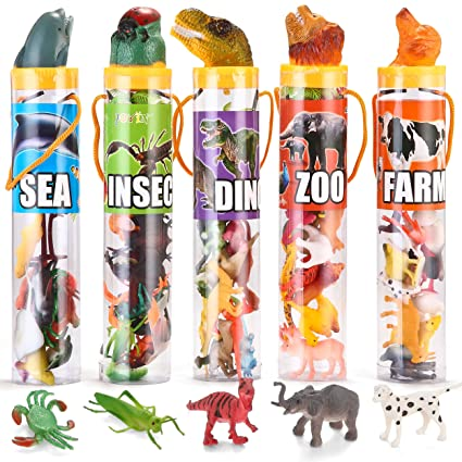 Joyin Toy 69 Pieces Natural World Animal Dinosaur Insect Sea Farm Figures Easter Basket