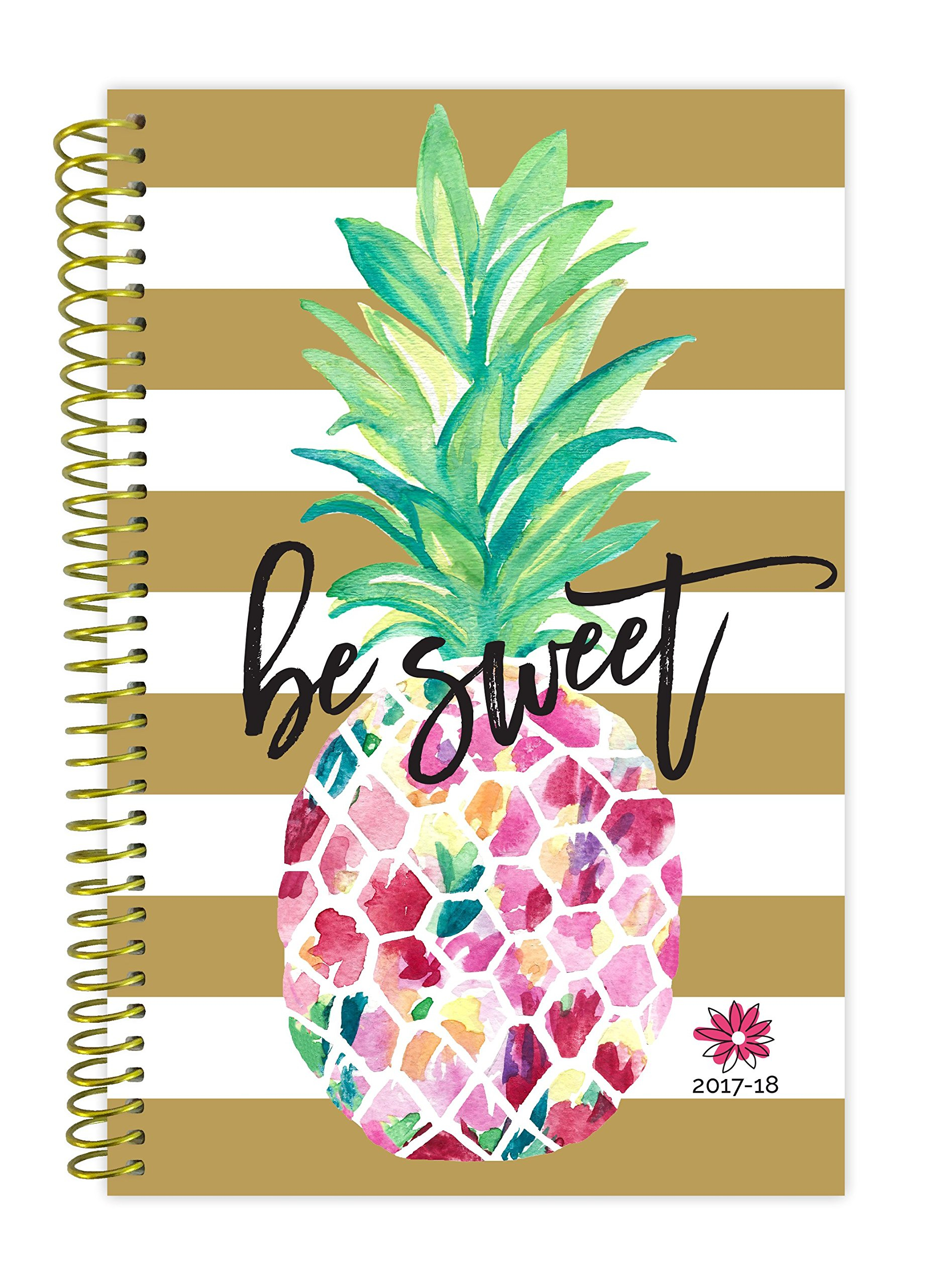 bloom daily planners 2017-18 Academic Year Daily Planner - Passion/Goal Organizer - Monthly and Weekly Datebook and Calendar - August 2017 - July 2018 - 6'' x 8.25'' - Pineapple