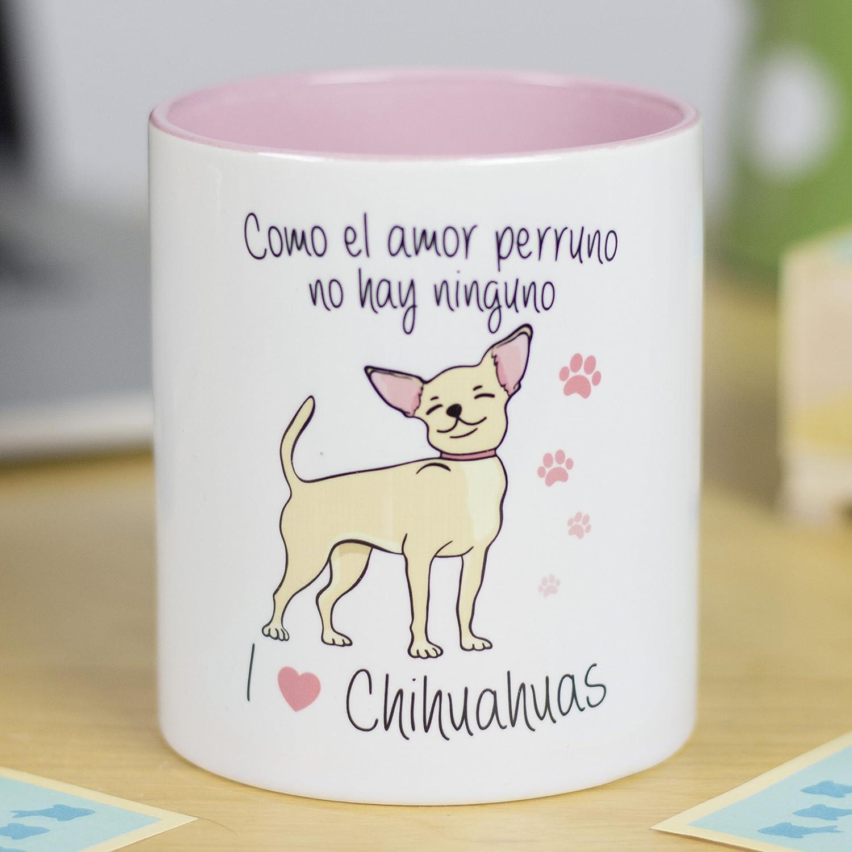 La mente es Maravillosa - Taza con Frase y Dibujo Divertido sobre Perro - Regalo Original de Mascota (Taza Chihuahua)