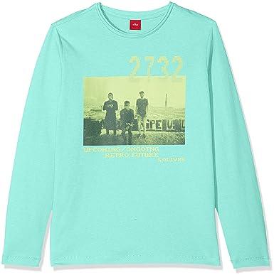 a511834dd351b Oliver 61.802.31.7931 T-Shirt Manches Longues, (Turquoise 6141), 16 Ans  Garçon: Amazon.fr: Vêtements et accessoires