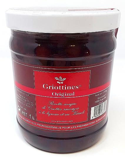 Grandes Destilerías Peureux - Griottines Original Cerezas Morello en Licor y Kirsch 1litre