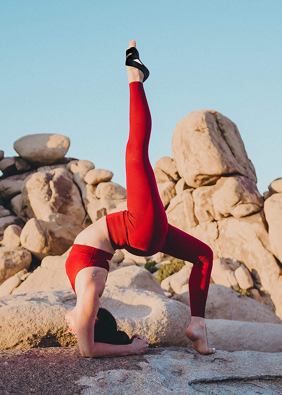 Barre Abiram Yoga Socks for Women Non Slip Ballet,Bikram Workout Pilates Toeless Non Skid with Grip Sock