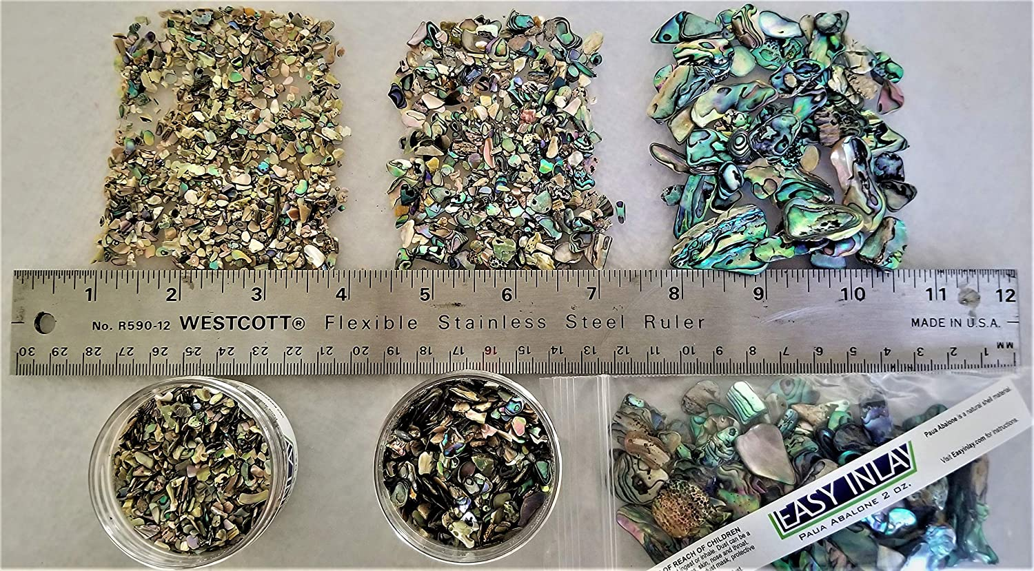 100 g Lot of Paua Shell Pieces for Inlay Decoration Jewellery Etc.