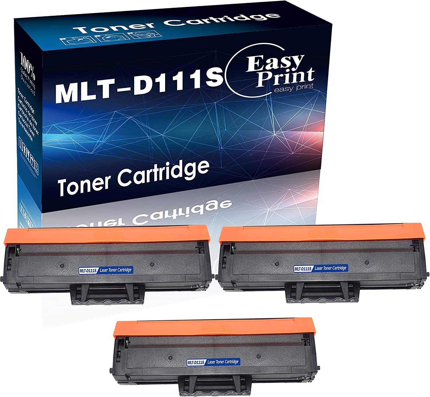 3-Pack Compatible M2020W M2074FW M2078FW Printer Toner Cartridge Used for Samsung MLT111S MLT-D111S 111S Toner Cartridge D111S, Sold by EasyPrint