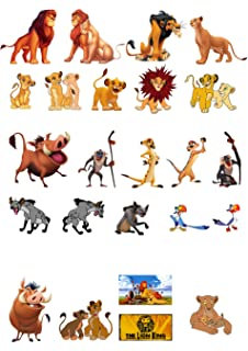 24 Stand Up The Lion King Themed Premium Edible Wafer Paper Cake Toppers ee31367a5
