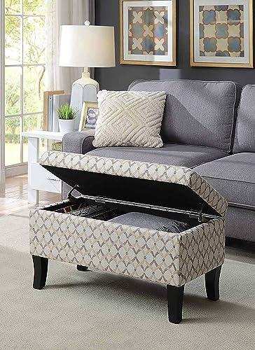 Convenience Concepts Designs4Comfort Winslow Storage Ottoman