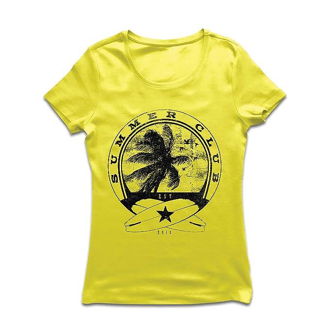 Camiseta Mujer Club de Verano - Surf - Ropa de Surf - Beach Resort Wear 4835682429f