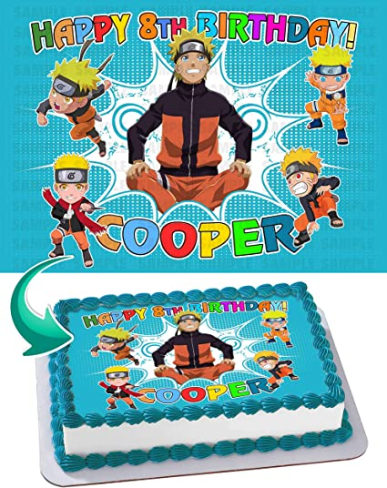Excellent Amazon Com Naruto Edible Cake Image Personalized Toppers Icing Personalised Birthday Cards Sponlily Jamesorg
