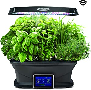 AeroGarden 903111-1100 Bounty WiFi, Black
