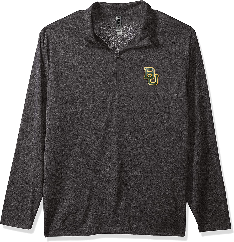 Black Heather X-Large Ouray Sportswear NCAA Baylor Bears Mens M Confluence 1//4 Zip