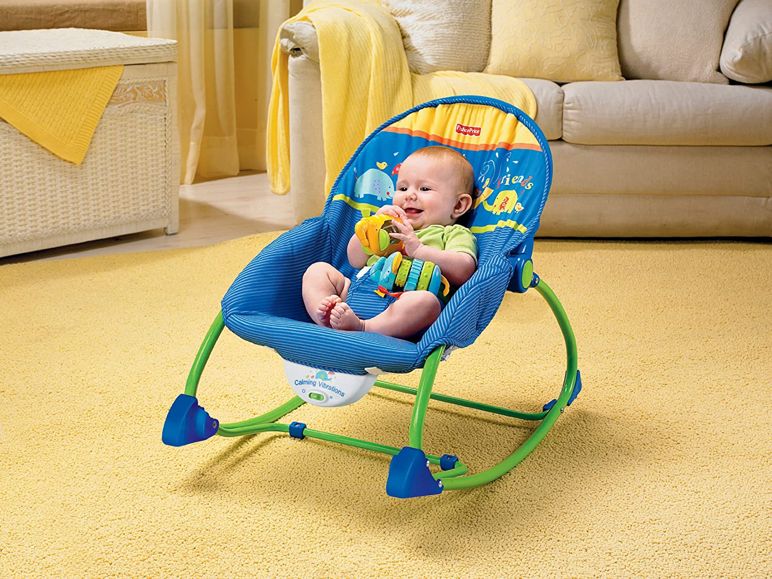 Amazon.com  Fisher-Price Infant-to-Toddler Rocker Blue/Green  Infant Bouncers And Rockers  Baby  sc 1 st  Amazon.com & Amazon.com : Fisher-Price Infant-to-Toddler Rocker Blue/Green ...