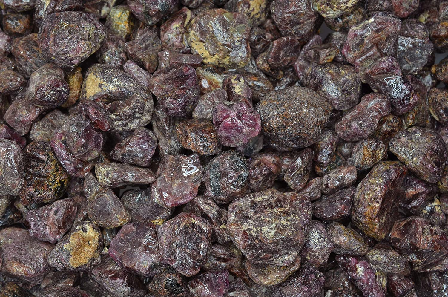 Fantasia Materials Broken Amethyst Points and Pieces 2 lbs Amethyst Rough Stones from Brazil