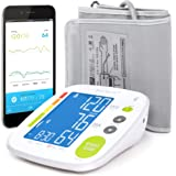 Bluetooth Blood Pressure Monitor Cuff by Balance with Upper Arm Cuff, Digital Smart BP Meter With Large Display, Set also comes with Tubing and Device Bag