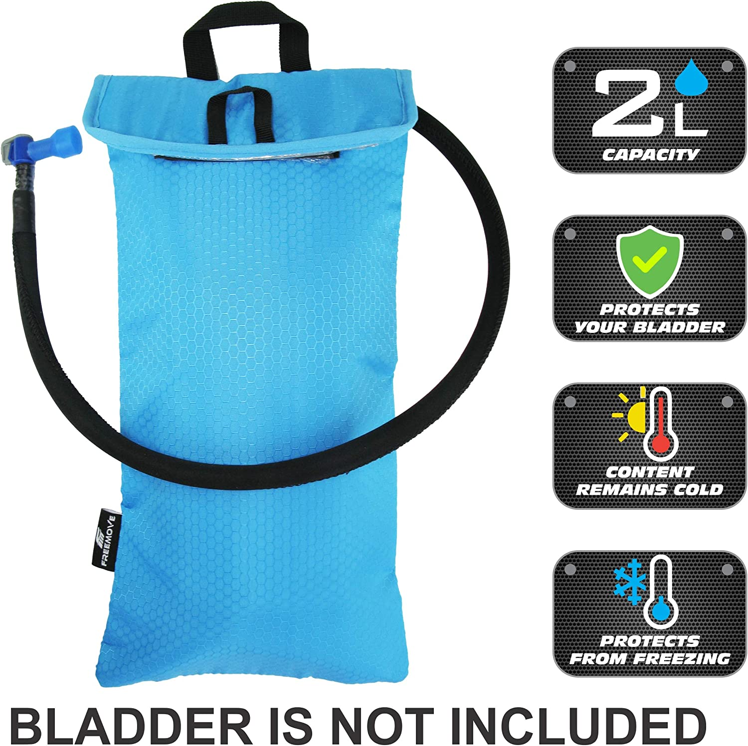 FREEMOVE Cooler Bag - Protective Sleeve for 2L or 3L Hydration Water Bladder | Keeps Water Cool & Protects The Bladder | Lightweight & Water Resistant | Bladder is NOT Included
