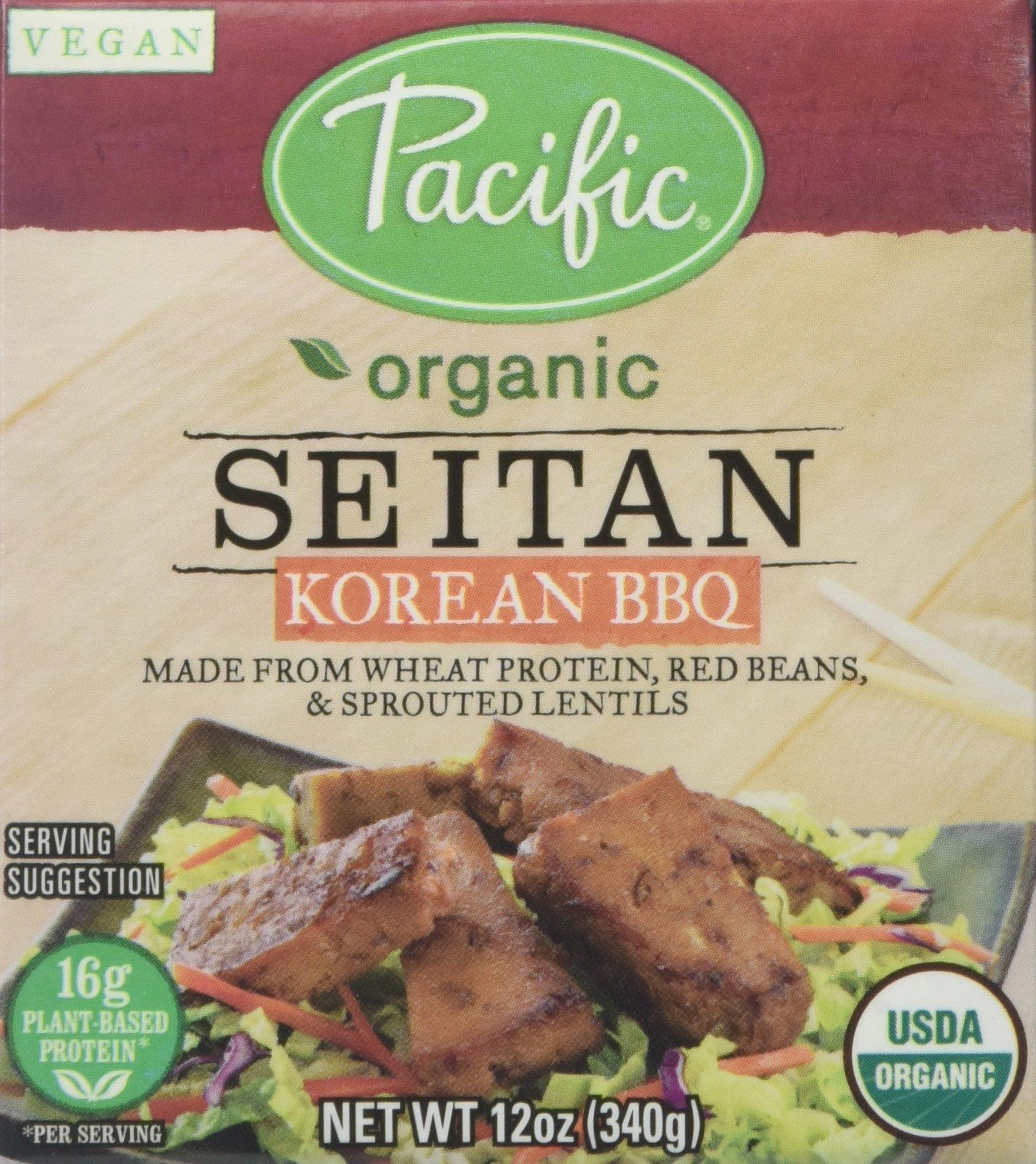 Pacific Foods Organic Seitan, Korean BBQ, 12 Ounce