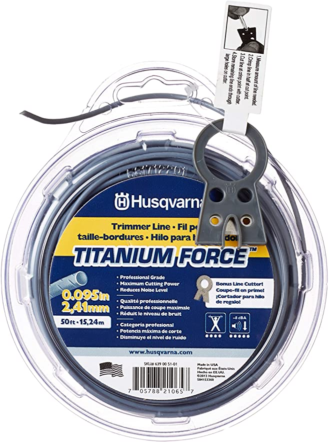 Outdoor Power Equipment Husqvarna Titanium Force Trimmer Line .105 ...