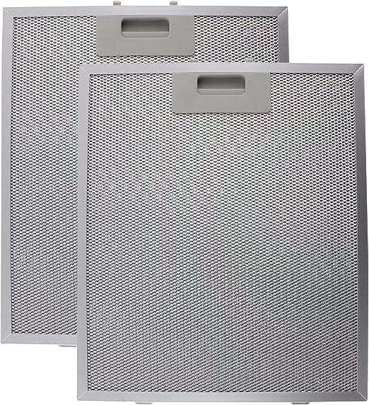 Spares2go Filtro de Grasa metálica Compatible con la Campana de Cocina CATA/Designair (Plata, 320 x 260 mm) (Paquete de 2): Amazon.es: Hogar