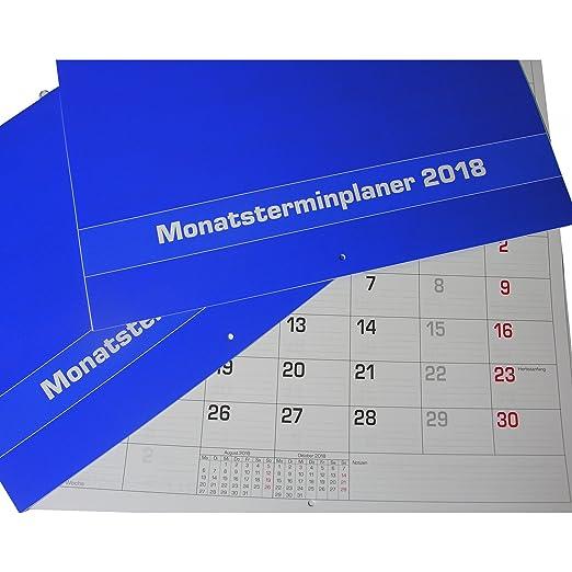 2 x Mes planificador 2018 de pared o mesa 29,7 x 21 cm Calendario ...