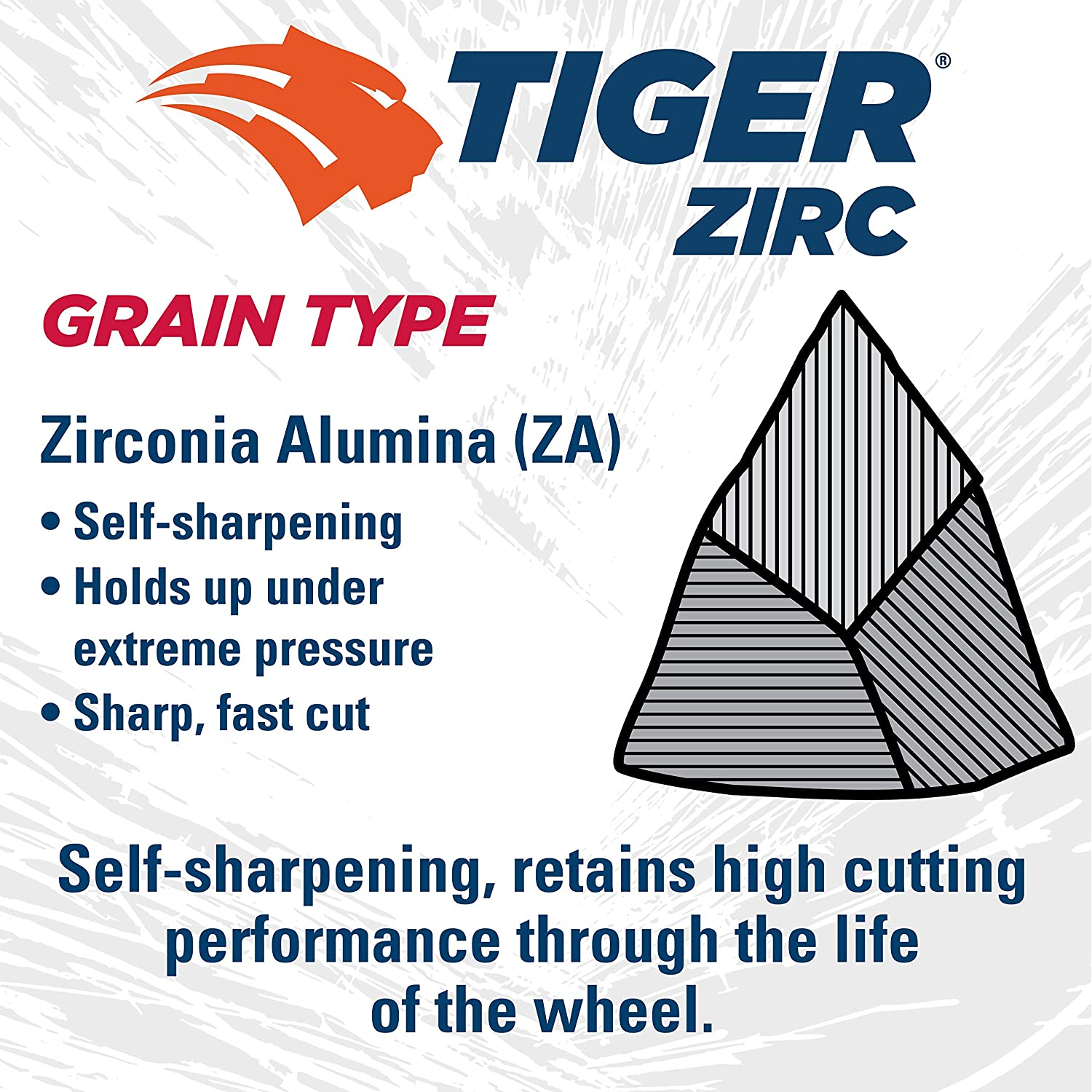 Weiler 58050 4-1//2 x 1//8 Tiger Zirc Type 27 Cut and Grind Combo Wheel 5//8-11 UNC Nut Z30T Pack of 10