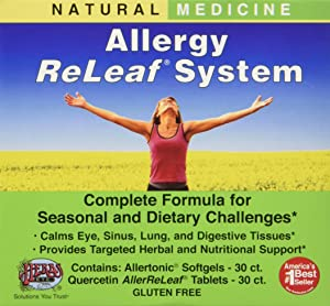 Allergy ReLeaf System - Natural Herbal Dietary Supplement - Safe and Effective Allergy Remedy - Promotes Sinus, Nasal, & Bronchial Health- Non Drowsy - 30 Softgels + 30 Tablets - Herbs Etc