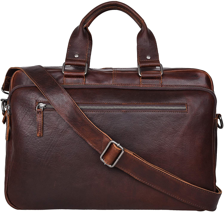 Antonio Valeria Zeke Premium Leather Messenger Bag for Men