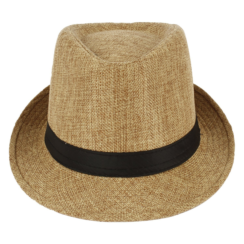 f02cc6cb42096e Fedora Hats I Stylish Hats I Designer Fedora Hats For Womens I Classic Fedora  hats for Mens(Beige): Amazon.in: Clothing & Accessories