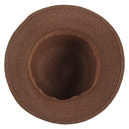 Sidiou Group Women Straw Bucket Hat Summer Sun Foldable Beach Caps  Fisherman Hat UV Protection with Flower Decor (Coffee)  Amazon.co.uk   Clothing 5b8f993ec86e