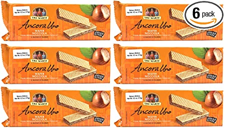 Review (Pack of 6) Tre Marie Italian Hazelnut Cream Filled Wafers