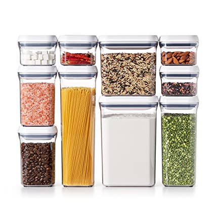 OXO Good Grips 10-Piece Airtight Food Storage POP Container Value Set  sc 1 st  Amazon.com : oxo food storage  - Aquiesqueretaro.Com