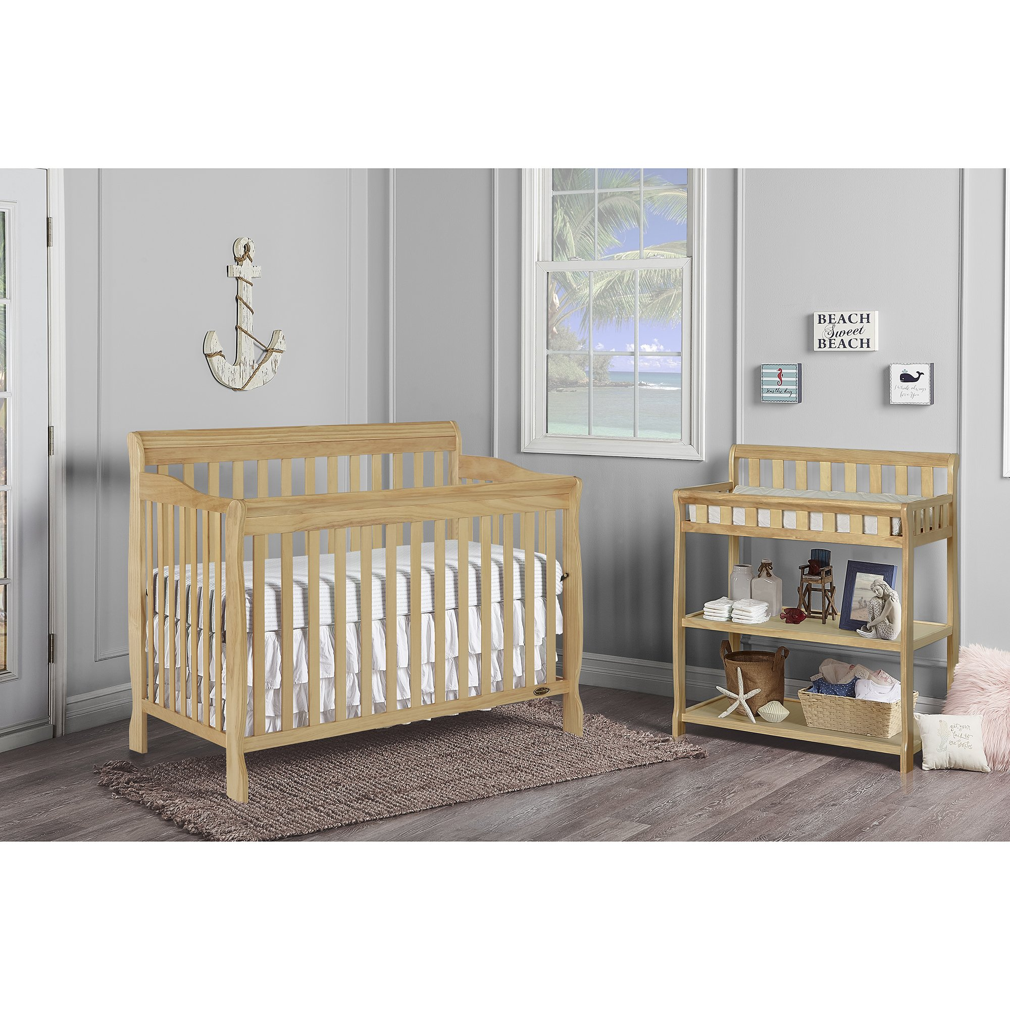 Dream On Me Ashton 5 in 1 Convertible Crib, Natural by Dream On Me (Image #3)