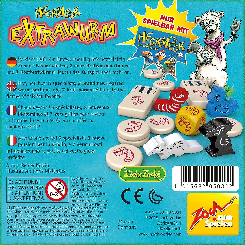 Zoch 601105081 Heckmeck Extrawurm Erweiterungsset Wurfelspiel